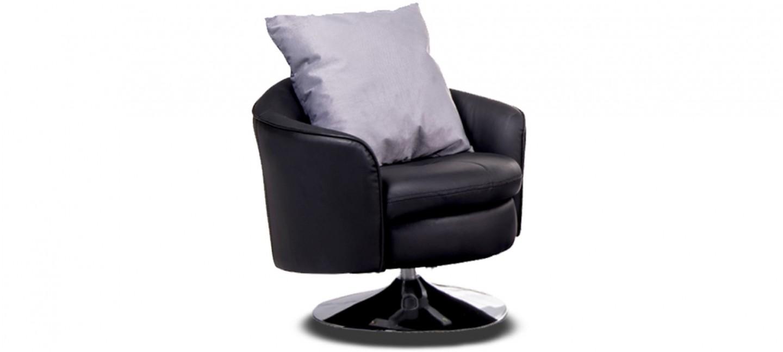 Fauteuil en cuir noir meilleur prix garantie - Fauteuil en cuir noir ...