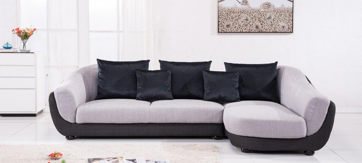 Canap d 39 angle en tissu gris a petit prix for Canape d angle tissus