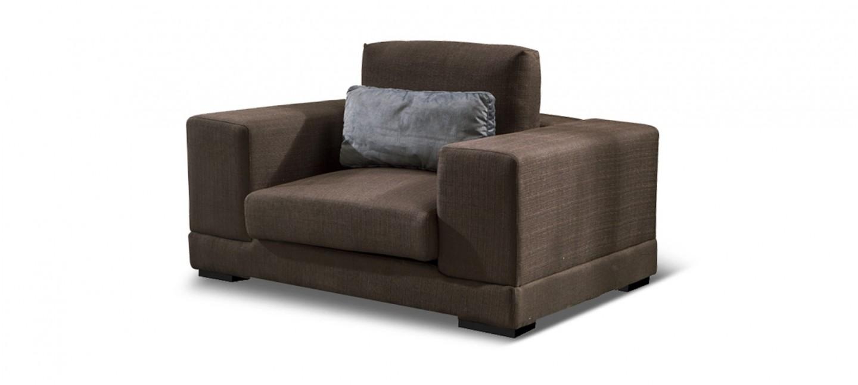 Fauteuil tissu marron pas cher a prix fous - Produit nettoyage fauteuil tissu ...