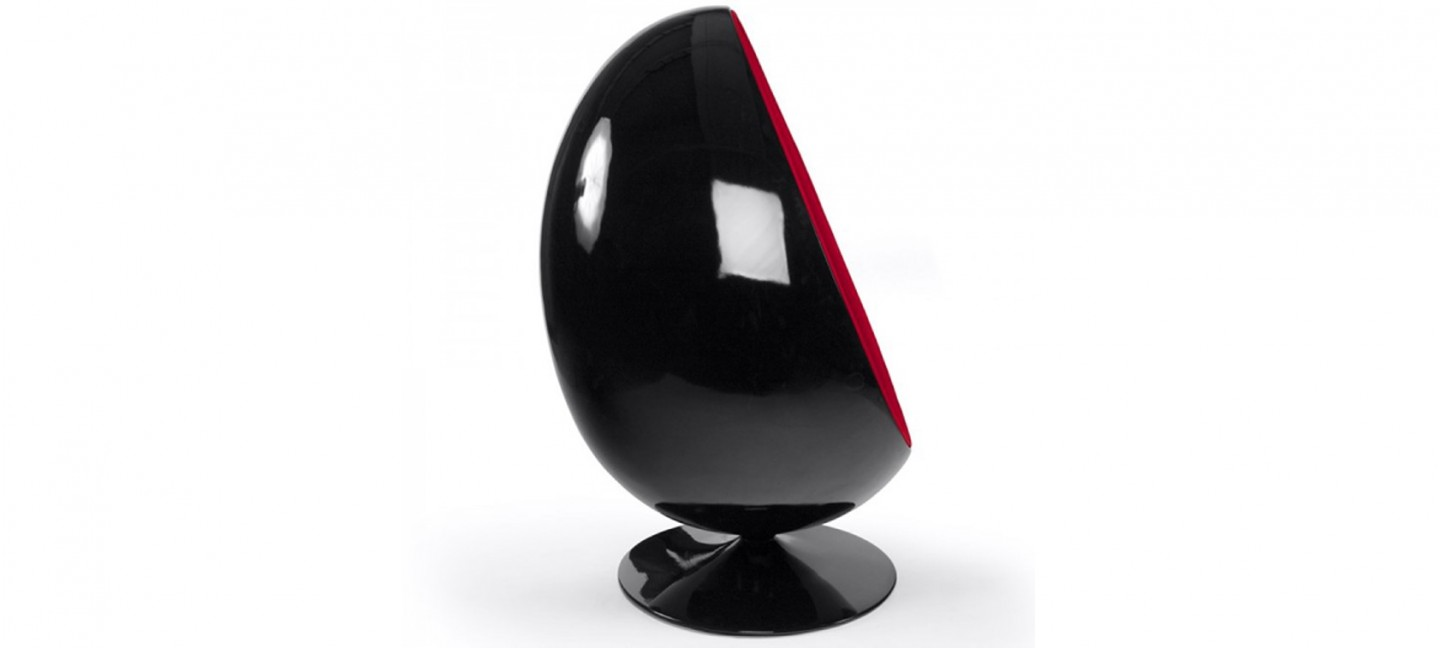 fauteuil velours rouge oeuf egg chair. Black Bedroom Furniture Sets. Home Design Ideas