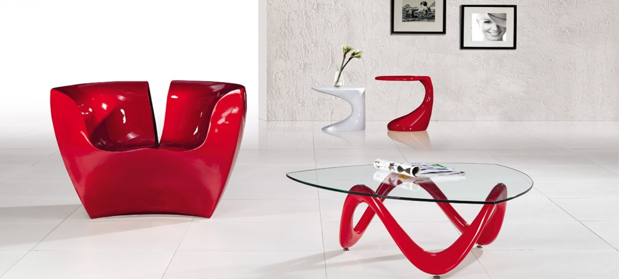 Table basse salon rouge - Table basse rouge laque ...