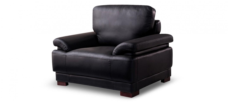 Fauteuil design cuir noir exp di en 24h for Fauteuil en cuir