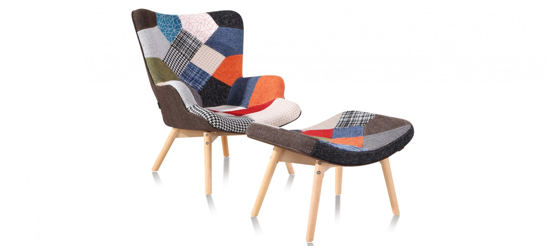 Fauteuil Patchwork En Tissu Stockholm Designetsamaison