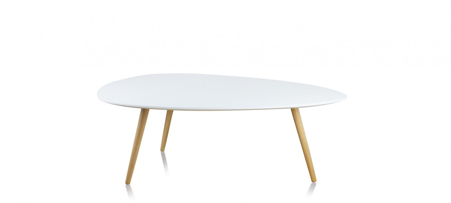 Table ovale scandinave - Table basse scandinave blanche ...