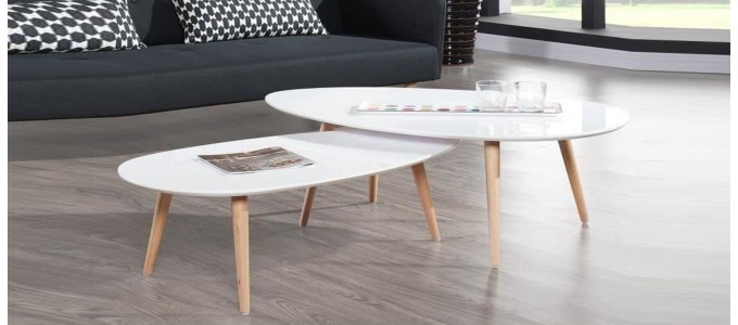 Tables basses design designetsamaison - Table basse scandinave blanche ...