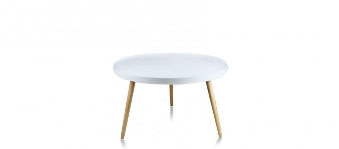 Tables basses design designetsamaison - Table basse ronde blanche ...