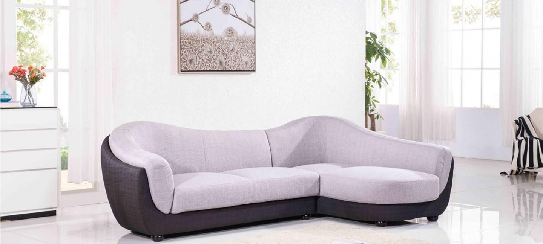 canapé d'angle en tissu gris | a petit prix !
