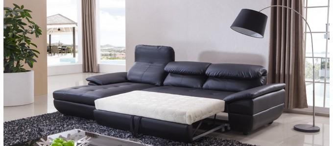 Salon mobilier design designetsamaison for Salon cuir noir