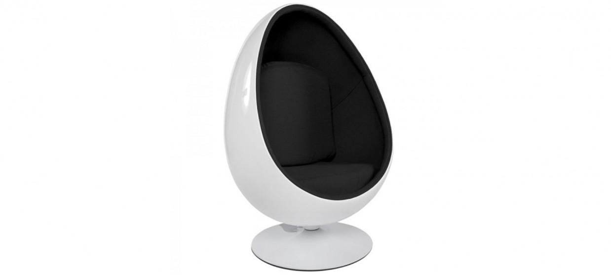Fauteuil design en velours noir - Lounge