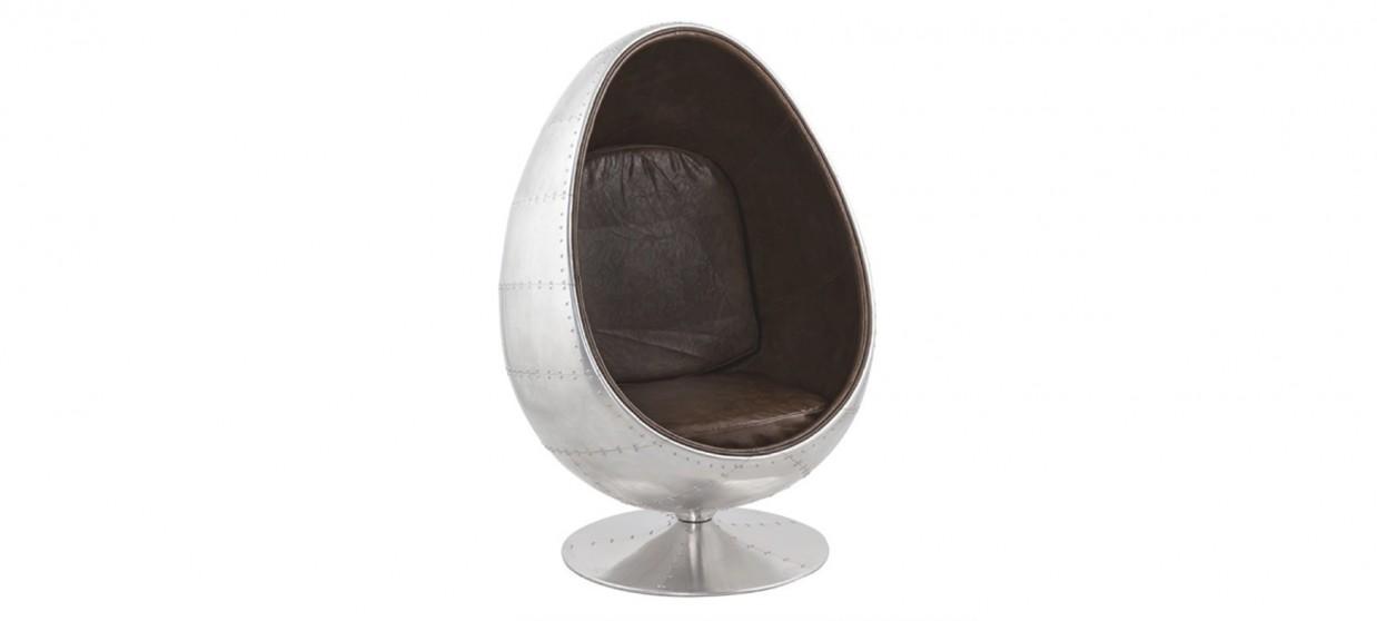 Fauteuil design en microfibre vintage - Lounge