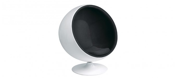 Fauteuil design en velours noir - Boule ball chair