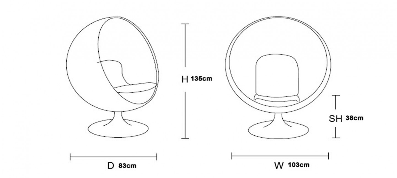 fauteuil forme boule. Black Bedroom Furniture Sets. Home Design Ideas