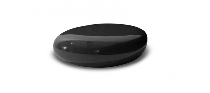 Table basse design noire - Galet