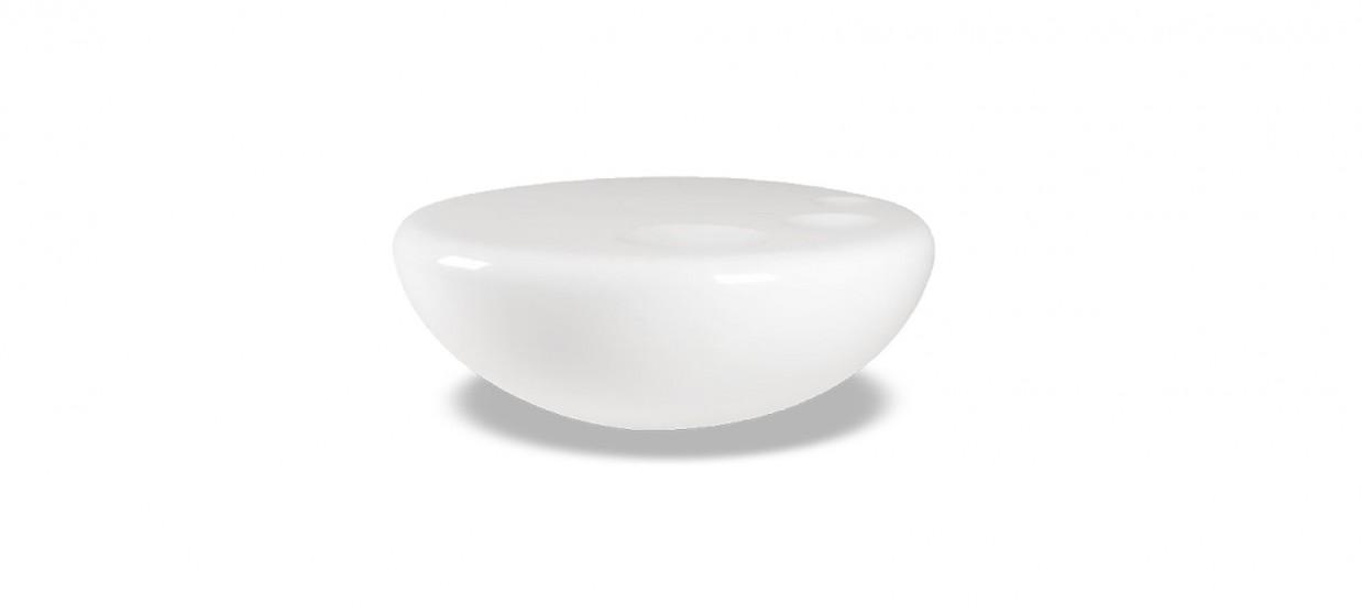 Table Basse Design Ronde Blanche Talia