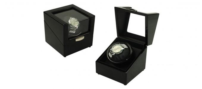 Boite à montres à remontoir automatique noire