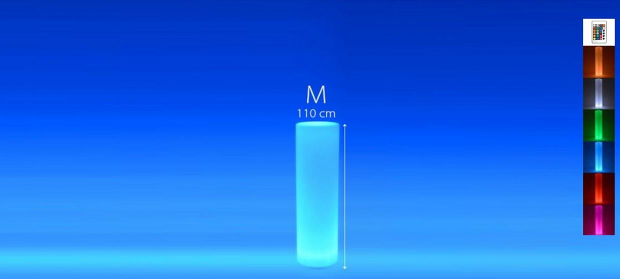 Colonne lumineuse à LED ronde 110 cm multicolore