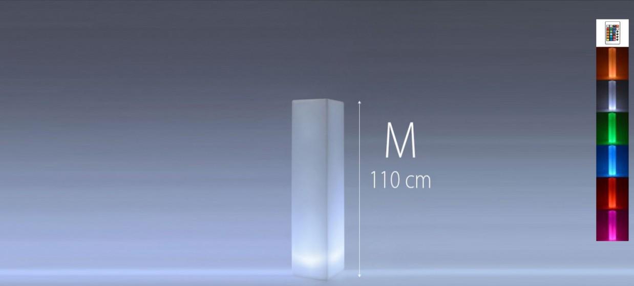 Colonne lumineuse à LED carrée 110 cm multicolore