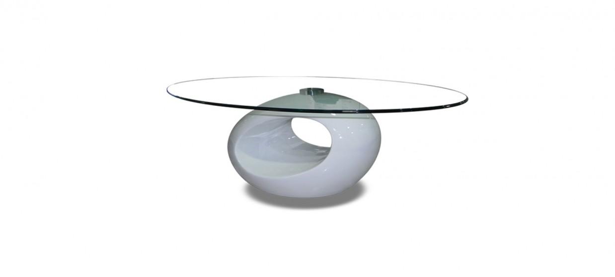 table basse design ronde blanche symbiose. Black Bedroom Furniture Sets. Home Design Ideas