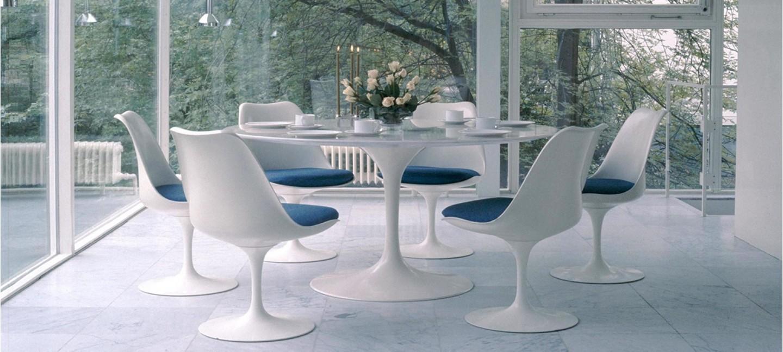 Table ronde pied central livraison rapide et prix bas for Table en verre avec chaise