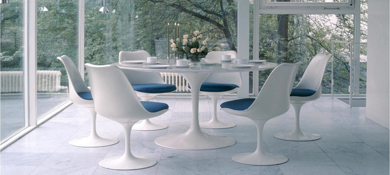 table design ronde 90cm - Table Ronde Pied Tulipe