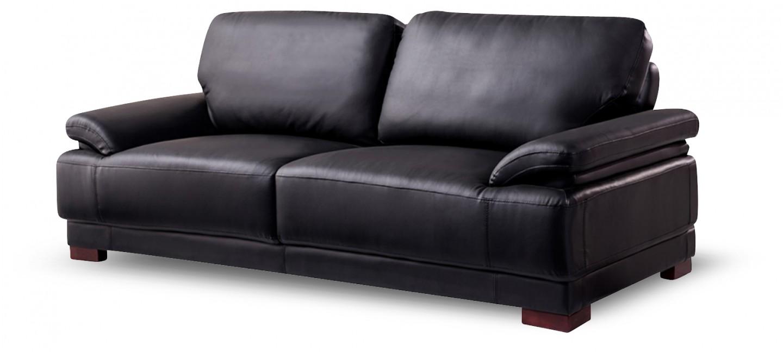 Fauteuil design cuir noir exp di en 24h - Les fauteuils en cuir ...