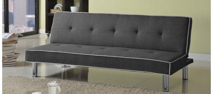 Canapé Clic Clac 3 places en tissu gris - Amazone