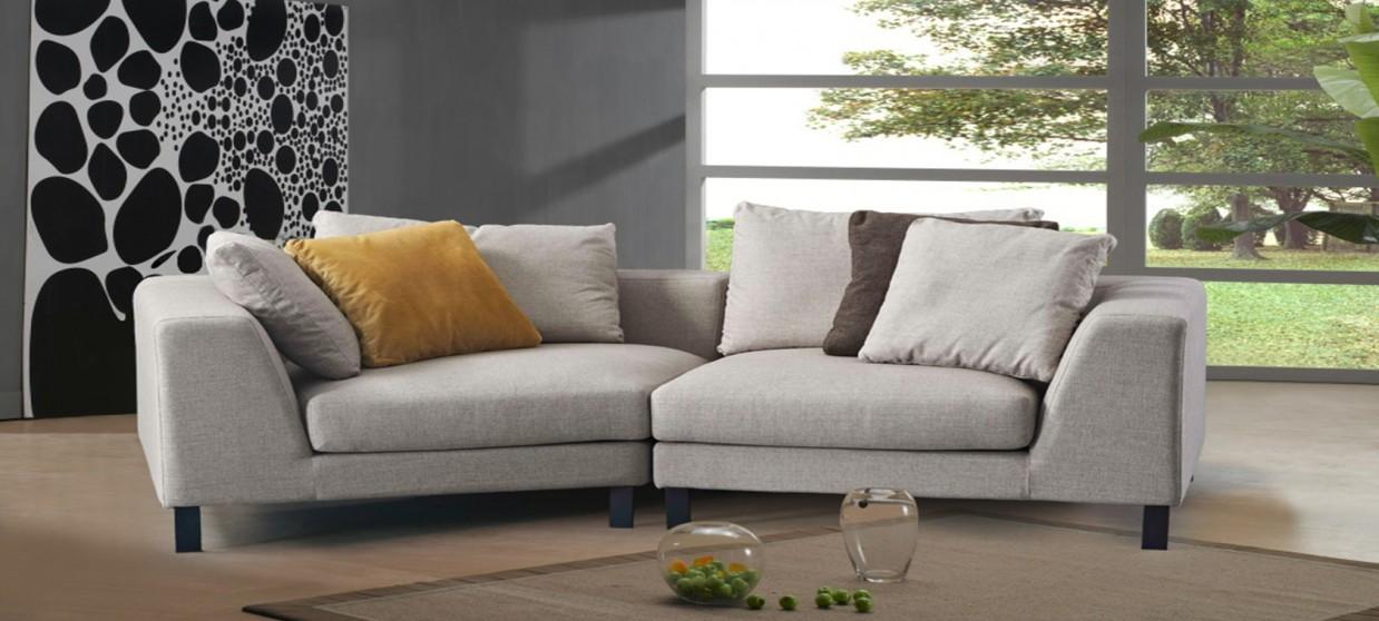 Canapé 3 places en tissu gris - Tana
