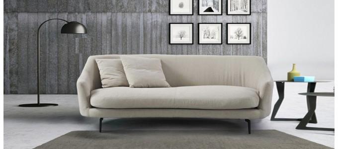 Canapé 3 places en tissu beige - Ontario