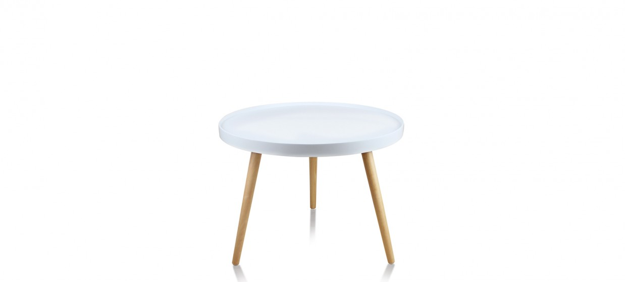 Table basse scandinave prix cass for Table ronde blanche