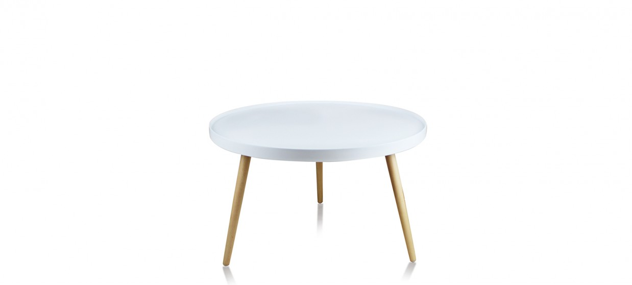 Table basse ronde blanche design a couper le souffle - Table basse ronde blanche ...