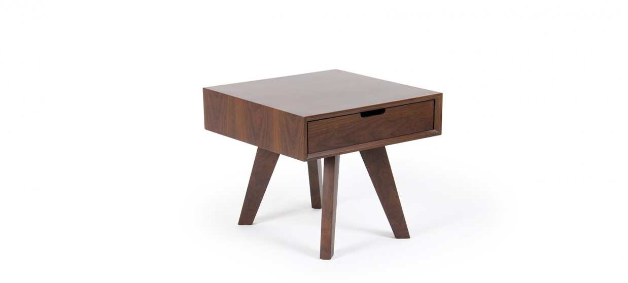 Table de chevet tiroirs finition bois e for Tabouret table de chevet