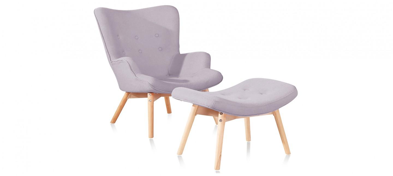 Fauteuil design gris en velours stockholm designetsamaison - Fauteuil design gris ...