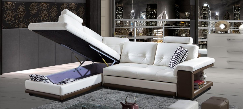 canap d 39 angle prix fous convertible en cuir. Black Bedroom Furniture Sets. Home Design Ideas