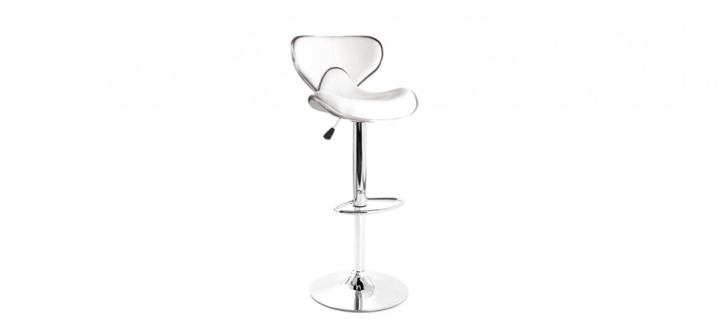 tabouret de bar design blanc avec coutures volta. Black Bedroom Furniture Sets. Home Design Ideas