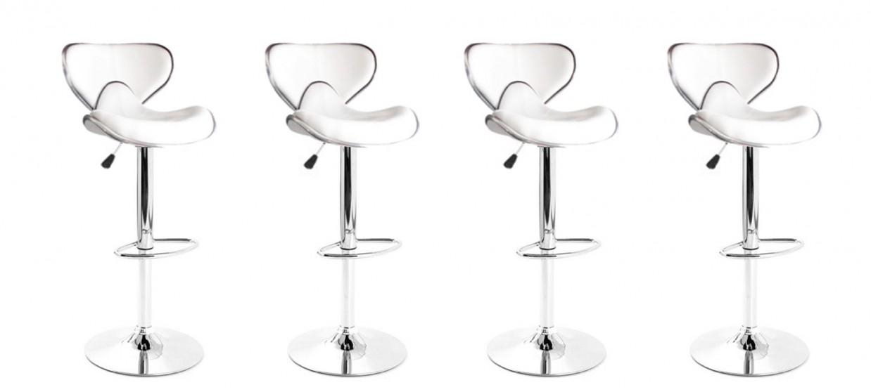 Avec Design Bar Blanc Tabourets Coutures Lot 4 De Volta HWE9D2I