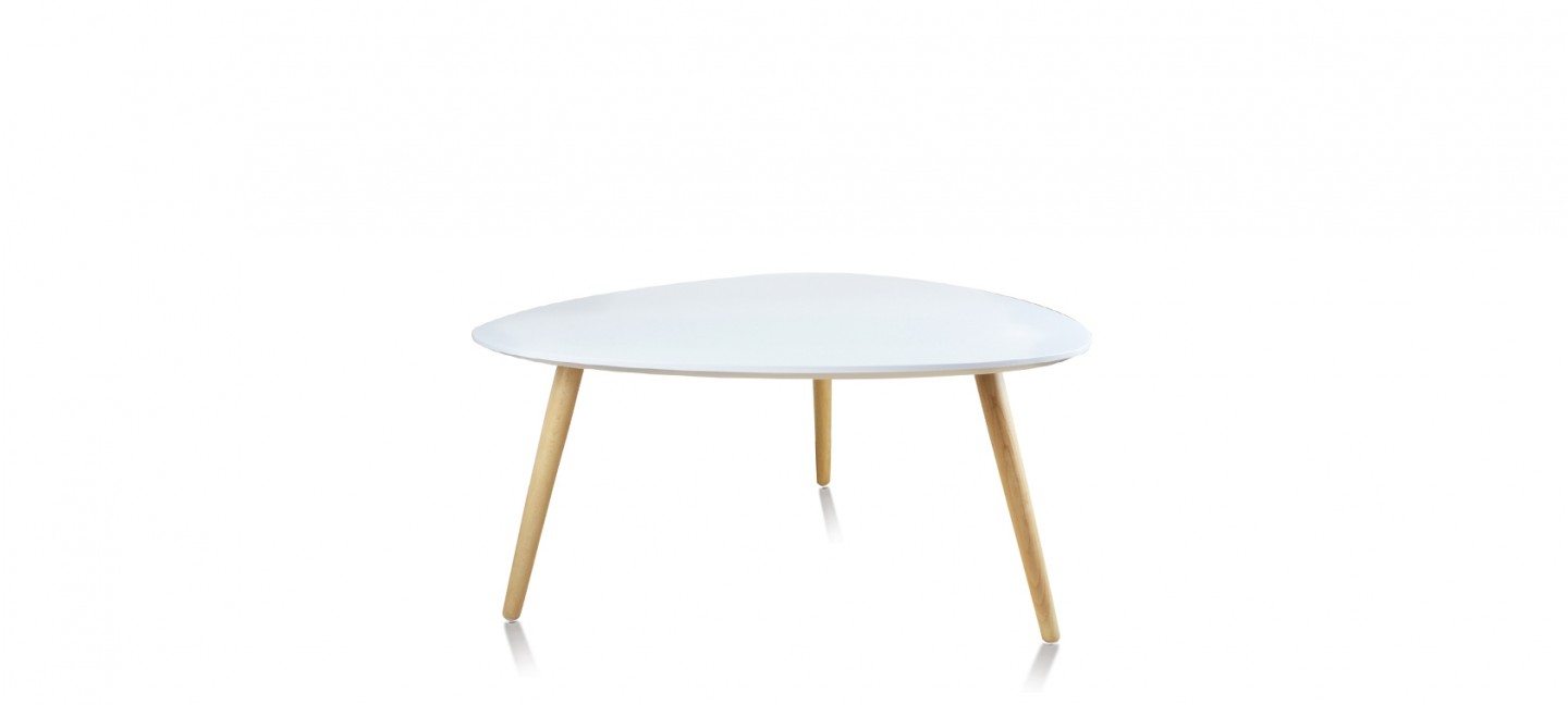 Table basse scandinave ovale blanche pristina - Table basse blanche scandinave ...