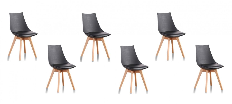 Lot de 6 chaises a prix discount - Lot 6 chaises noires ...