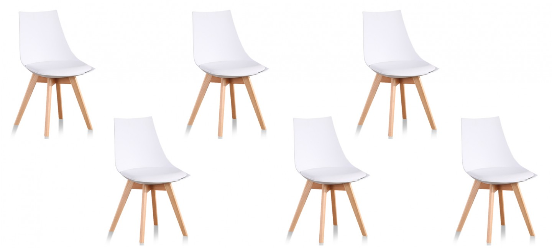 Chaises design vendues par lot de 6 prix en baisse for Lot 6 chaises scandinaves