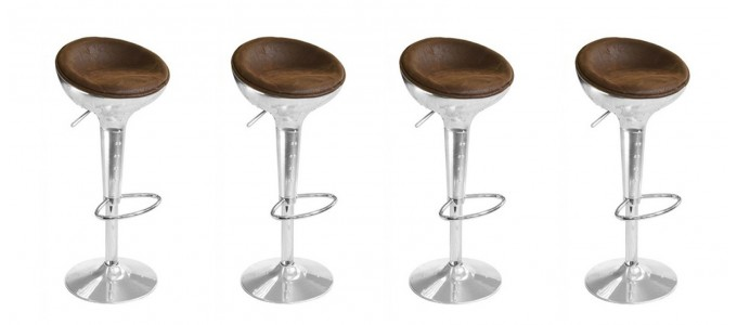 Lot de 4 tabourets de bar design vintage - Aviator