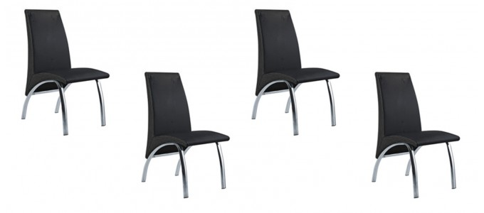 Lot de 4 chaises noires - Oka