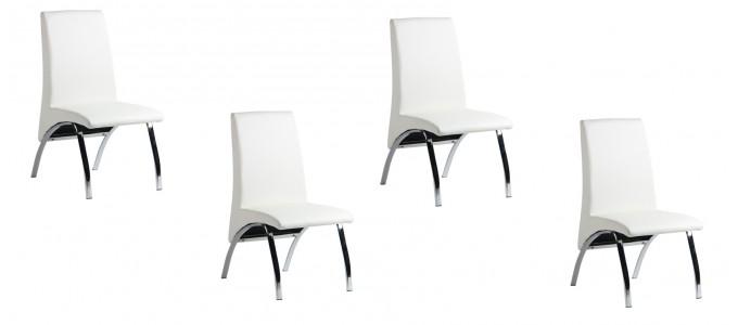 Lot de 4 chaises blanches - Oka