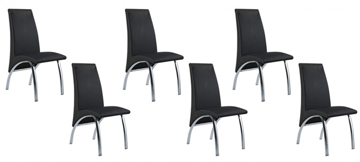 lot de 6chaises noires design prix incroyable. Black Bedroom Furniture Sets. Home Design Ideas