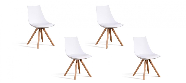 Lot de 4 chaises blanches   Offres imbattables sur notre boutique en ... 8a2f9252cc80