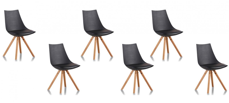 Lot de 6 chaises design garantie 2 ans satisfait ou - Lot de 6 chaises ...