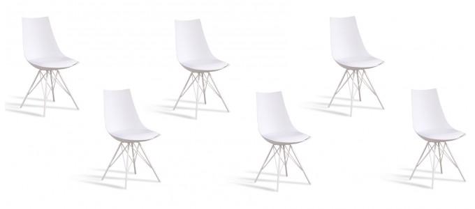 Lot de 6 chaises discount blanches - Eif