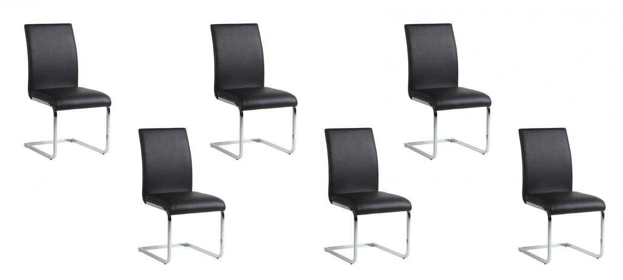 Offre imbattable sur nos lots de 6 chaises ottawa des chaises de cuisine p - Lot 6 chaises noires ...