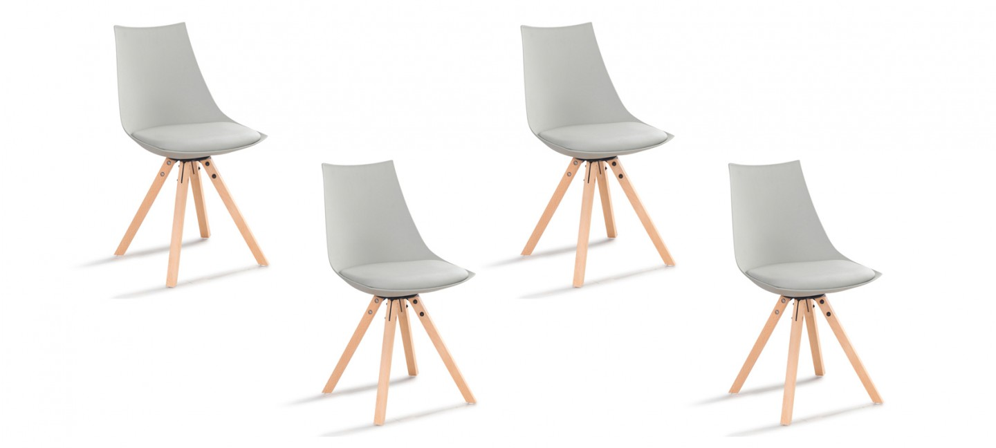 Lot chaises grises garantie 2ans - Lot de 4 chaises design ...