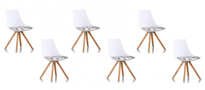 Lot de 6 chaises scandinaves journal - Minsk