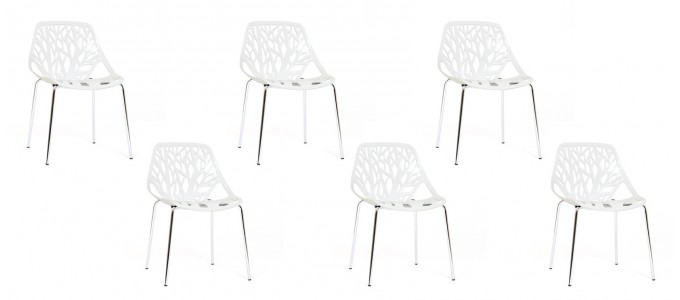 Lot de 6 chaises discount blanches - Lily