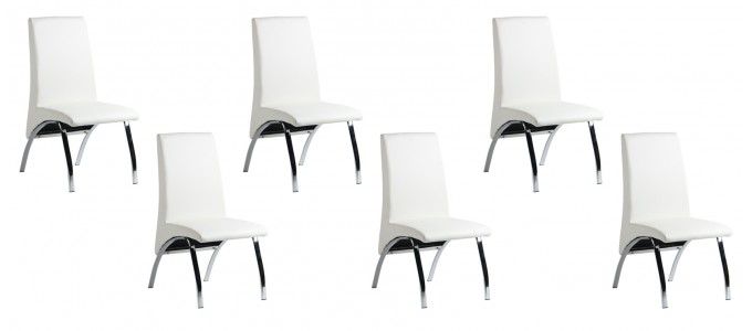 6chaises blanches prix fou. Black Bedroom Furniture Sets. Home Design Ideas